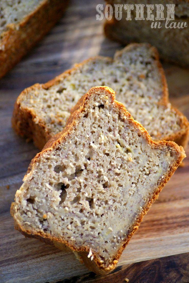 Sugar Free Banana Bread Recipe - low fat, gluten free, sugar free, healthy, clean eating friendly, breakfast banana bread