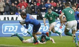 Frances Maxime Médard scores try to shred Irelands Six Nations hopes