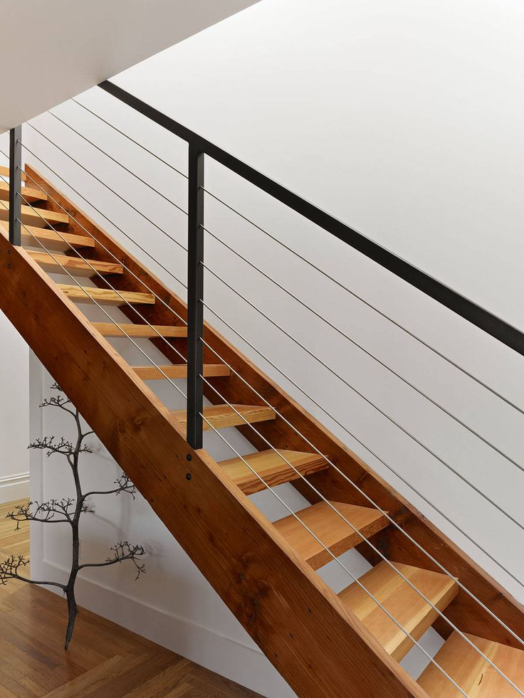 Cable Rail http://www.houzz.com/photos/22354982/Master-Suite-Remodel-modern-staircase-san-francisco