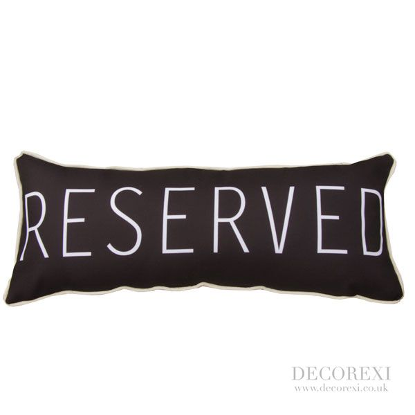 """""""Reserved"""" Cushion"""