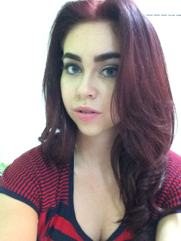My New Red Hair With Loreal Hicolor In Deep Auburn And I