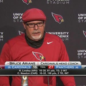 "Arizona Cardinals head coach Bruce Arians: ""I never buy into injuries losing us games"""
