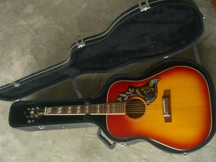 vintage 1972 lyle hummingbird model 680l japan sunburst acoustic guitar w case ebay guitar. Black Bedroom Furniture Sets. Home Design Ideas