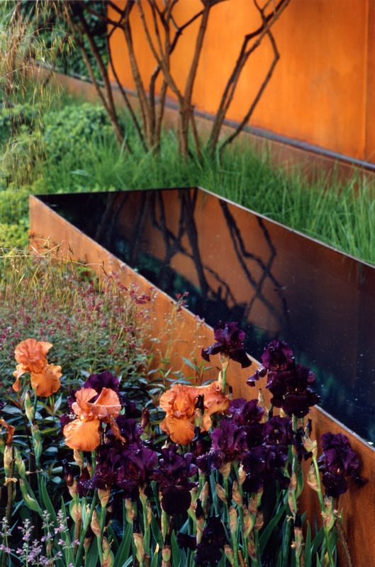 Chelsea 2006 | Tom Stuart-Smith. Love the rust and the peach with dark purple
