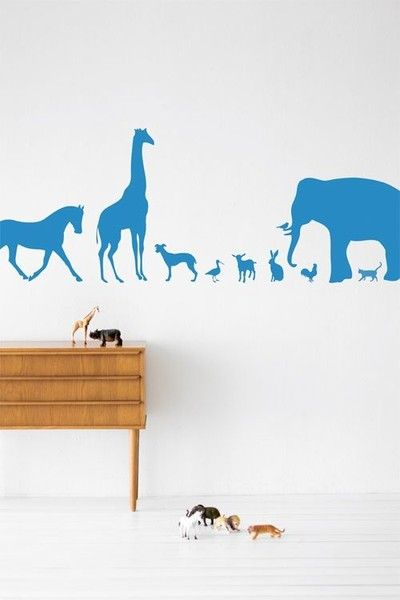 Ferm Living Animal Farm Wall Stickers-available at Nubie | Nubie - Modern Baby Boutique