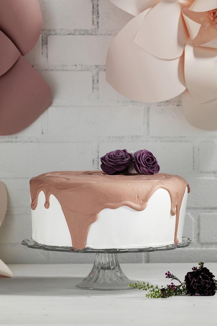 Pink chocolate  www.pandurohobby.com Sweets by Panduro  #sweets #DIY #rose #candy #cake #pink #rosor #rosa #tårta #tårtor