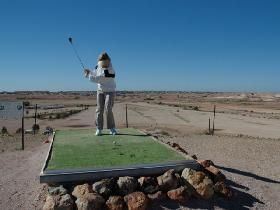 Welcome to the world famous Coober Pedy Opal Fields Golf Course, the only club in the world with reciprocal rights to Saint Andrews in Scotland, the home of golf via Gaander