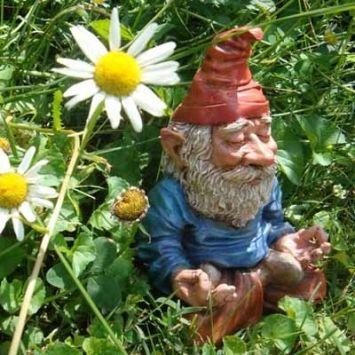 Om GnomeFunny Gardens, Meditation Gnomes, Om Gnomes, Gnomes 15, 15 Pics, Garden Gnomes, Gardens Gnomes, Gardens Art, Fairies Gnomes