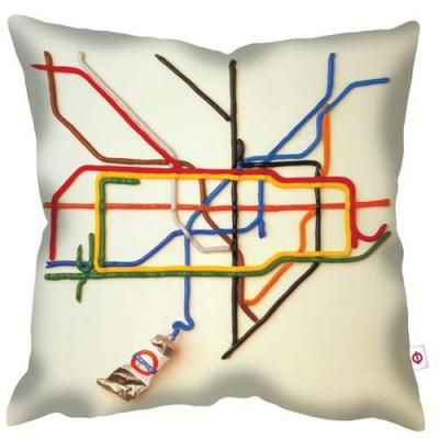 welovecushions - Tate by Tube - Iconic London Transport Poster for the Tate Museum part of our collection of vintage and iconic designs