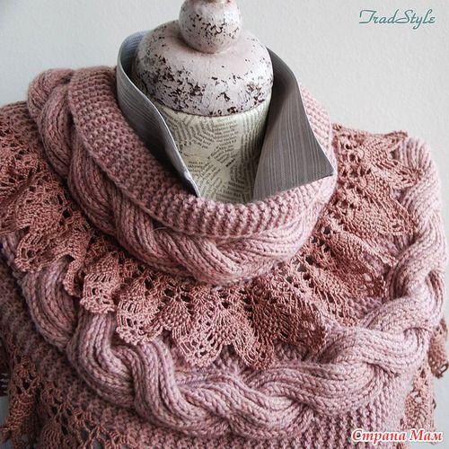 Как связать красивый шарф-снуд Стефания