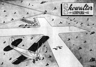 Showalter Airfield - Now Showalter Park/Ward Park where Winter Park High School Stadium sits