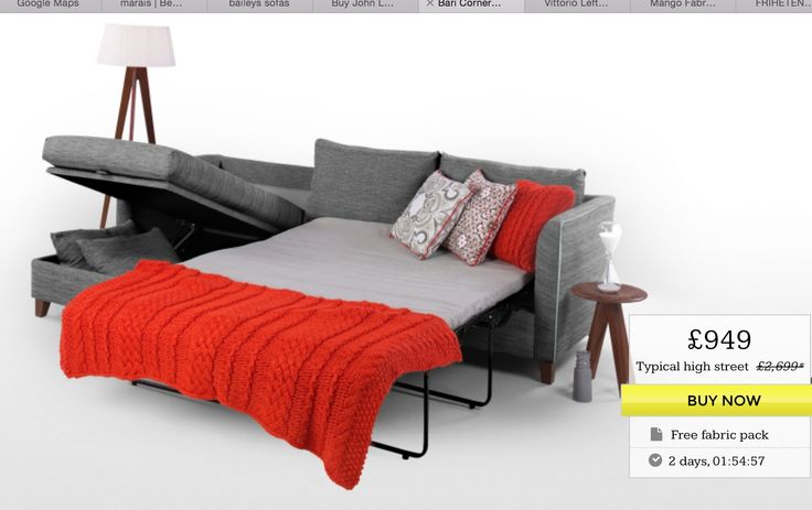 Sofa bed with storage from made.com