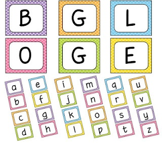 printable boggle and clock 5 minute interval circles. This site also has lots of other great printables, especially for daily 5