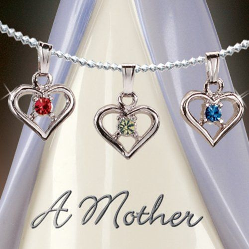 A Mother's Heart Birthstone Charm Angel Figurine: Personalized Gift for Mom by The Bradford Editions
