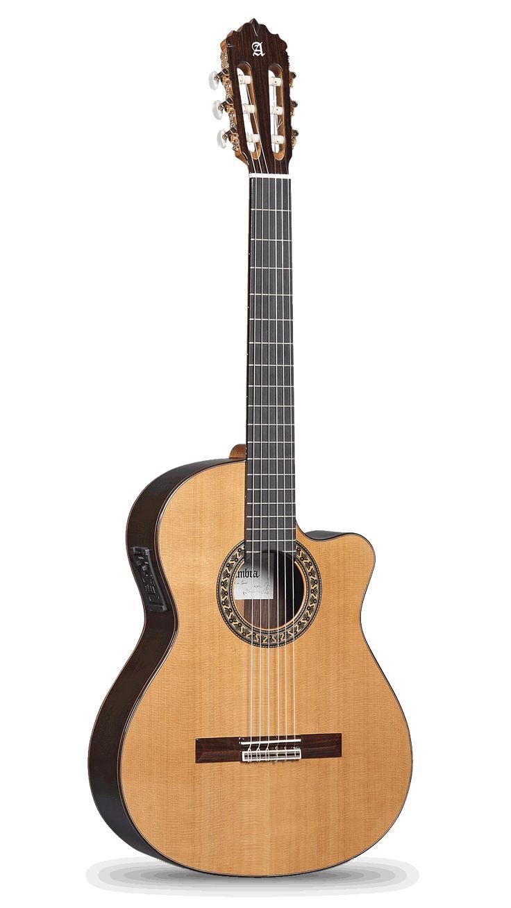 Guitarra Alhambra Cutaway 5 P CW E1, auto-amplificada (Fisherman)