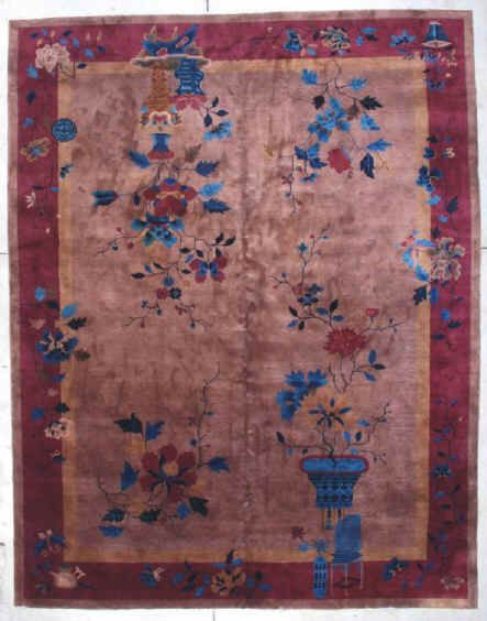 7161 Art Deco Chinese Rug Size 9 0 X11 6 Age