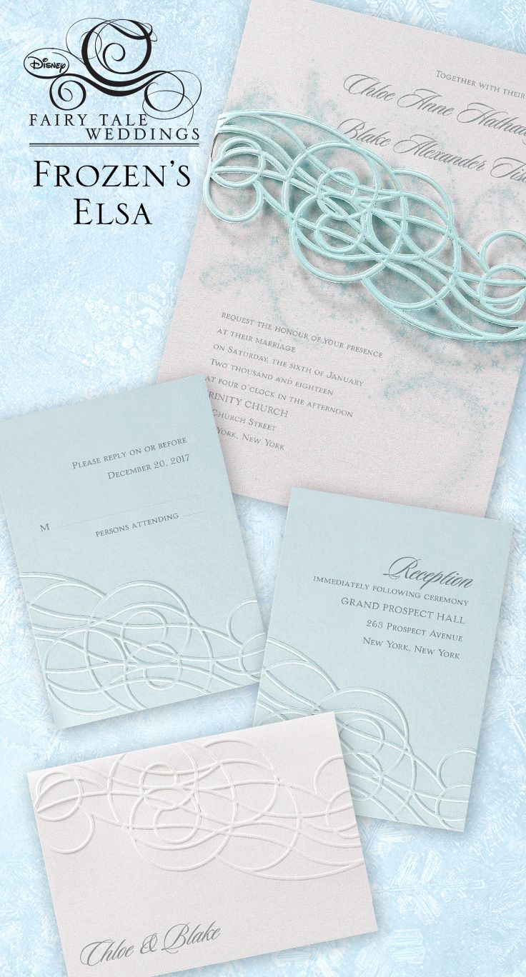 Wedding Invitations Inspired By Disneyu0027s Frozen That Your Heart Will Melt  For.