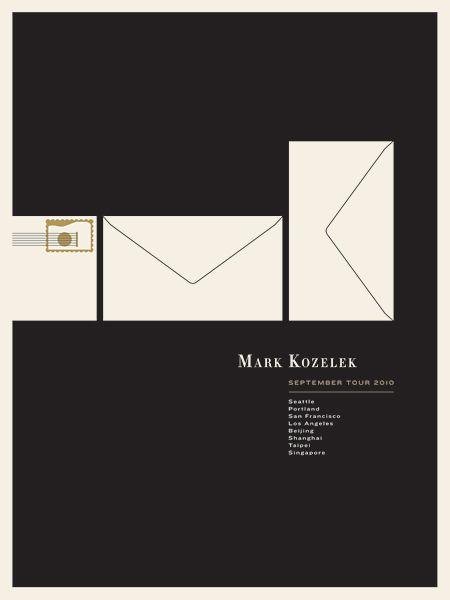 Mark Kozelek 2010 Tour poster by Jason Munn - Jason Munn - Gallery
