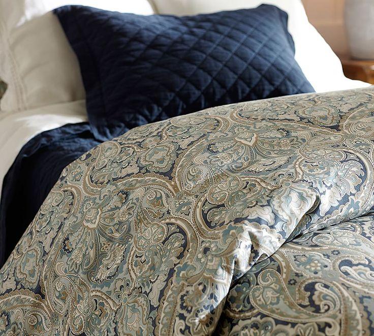 Mackenna Paisley Percale Duvet Cover Amp Shams Blue