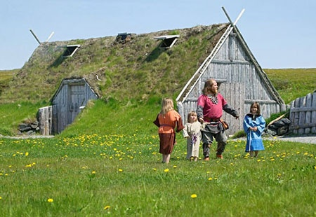 Newfoundland, Canada - Viking homes