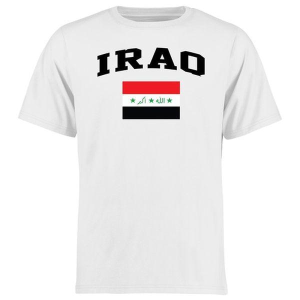 Iraq Flag T-Shirt - White - $21.99