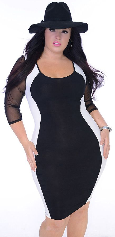 Nymph (Plus/Black/White)-Great Glam is the web's best sexy plus size online store clothing website for 1X 2X and 3X clothes for women and juniors.