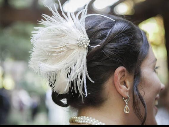 Hey, I found this really awesome Etsy listing at https://www.etsy.com/listing/560050837/fascinator-feather-hair-clip-wedding