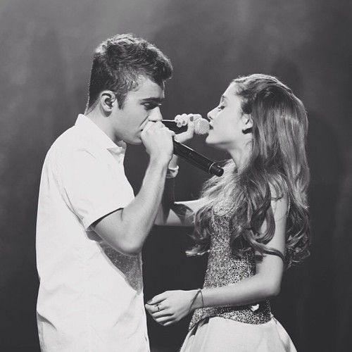 """""""@Jones Crow: @nathansykes & @Ariana~ singing Almost Is Never Enough #listeningsessions"""""""
