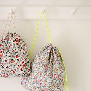 Un sac-à-dos en tissu liberty - Marie Claire Idées