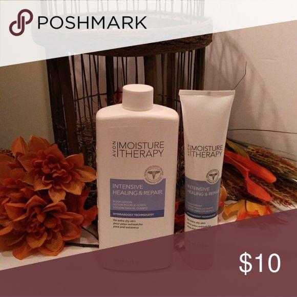 Avon Moisture Therapy  Set Body lotion 16.9 oz and hand creme 4.2 oz Avon Other