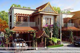 Projekty, azjatyckie Domy zaprojektowane przez Vinyaasa Architecture & Design