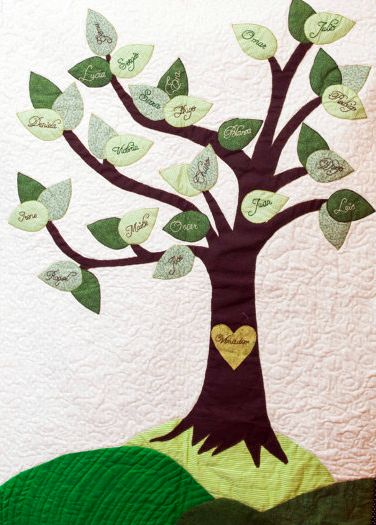 Personalized Family Tree Quilt for Sale on Etsy