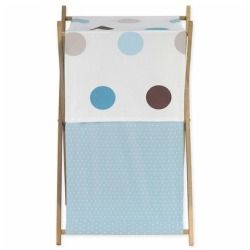 Baby and Kids Clothes Hamper for Blue and Brown Mod Dots Bedding Set by Sweet Jojo Designshttp://11suiso.com/adorablebabyboyclothes/?p=45