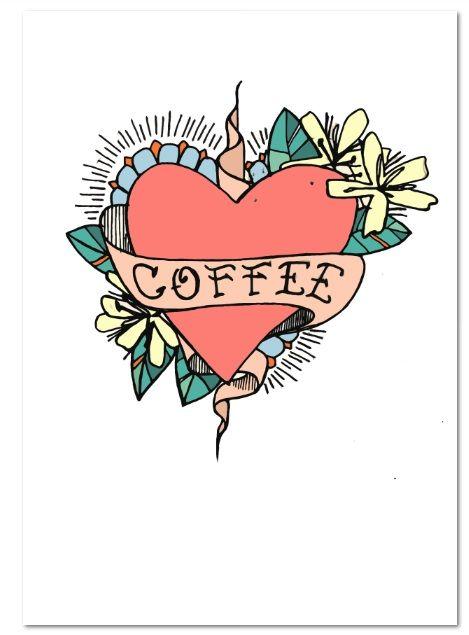 Coffee inspired Illustration by Jess Tobin aka Novice