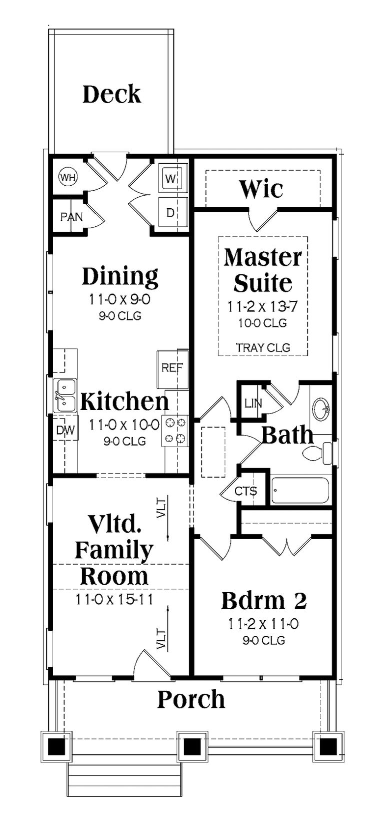 78 best floor plans images on pinterest house floor plans small floor plans 1 story craftsman home with 2 bedrooms 1 bathroom and 966 total square feet