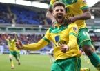 Gary Hooper celebrates scoring his and Norwich City's dramatic injury-time winner at Bolton. Picture by Paul Chesterton/Focus Images