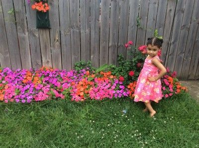 """Colorful Flowers Matching my Dress"""