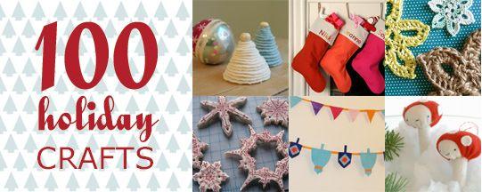 100 Holiday Crafts100 Christmas, Crafts Ideas, Christmas Crafts, Diy Crafts, 100 Holiday Crafts, Craft Tutorials, Christmas Holiday, Christmas Ideas, Craft Ideas