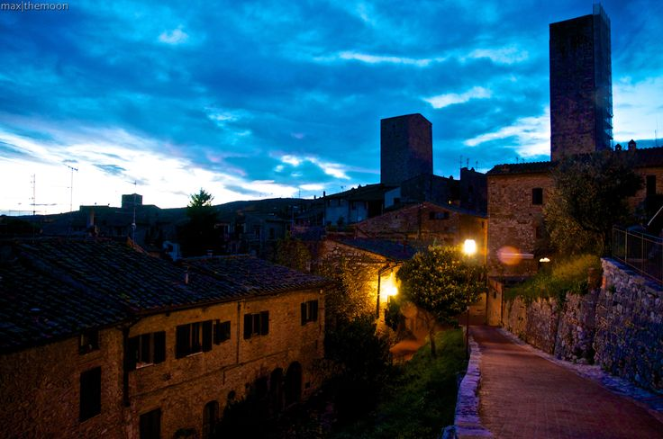 Blue in San Gimignano