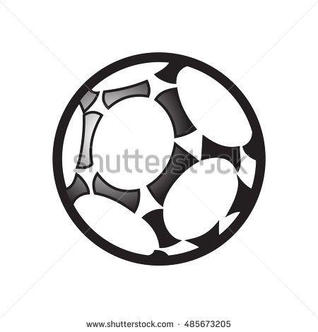 Soccer ball isolated on white background. 2016. EURO Championship Soccer symbol. Vector Illustration. Sport, Soccer, Football icon. Soccer ball icon, soccer ball banner, soccer ball logo. Kids camp.