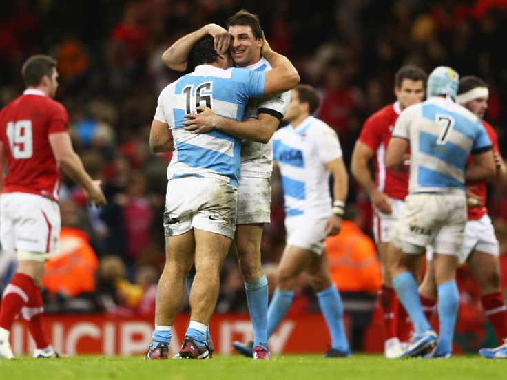 Argentina after beating Wales in Cardiff.