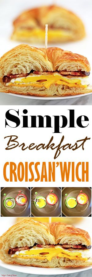 This is a simple and easy idea, but this breakfast croissan'wich makes for a very scrumptious morning gourmet meal. It's like eating out, but at your own home.