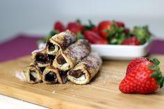 French Toast Rolls mit Nutella und Erdbeeren!