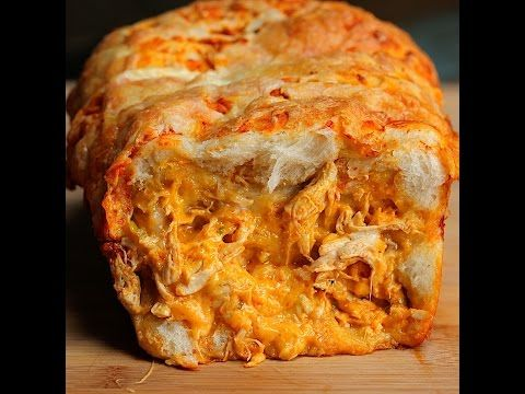 Buffalo Chicken Pull Apart Bread - Twisted   make with fat head dough