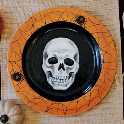 skeleton plate for halloween - Halloween Plates Ceramic