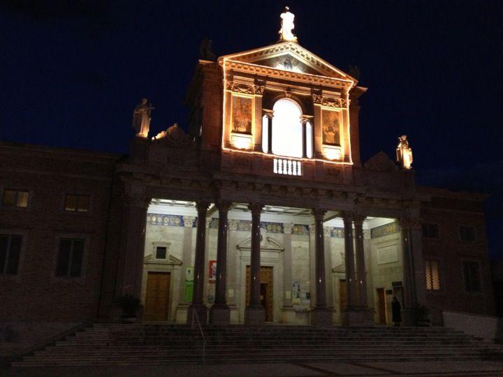 Santuario di San Gabriele nel Isola del Gran Sasso d'Italia, AbruzzoThe Shrine of St. Gabriele is located at the foot of the Gran Sasso, in the municipality of Isola del Gran Sasso of Italy, in the province of Teramo.
