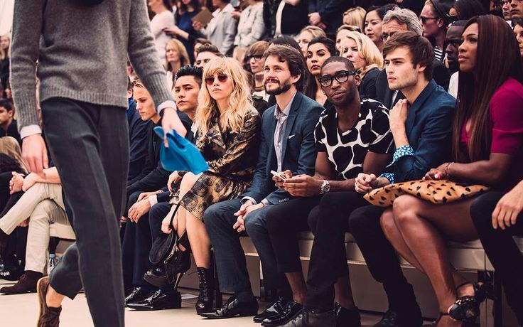The audience at the Burberry S/S2014 men's ware show.