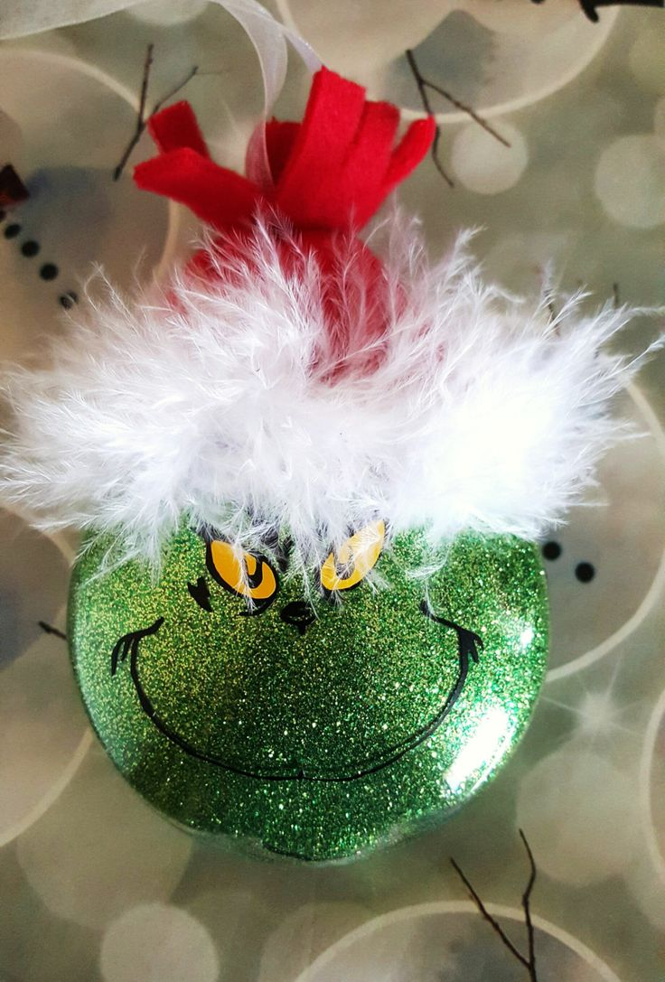 Grinch Ornament by Originalisa on Etsy