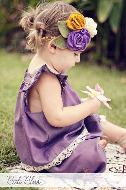 headband, flowers, baby, diy - and why I would love to have a little girl one day.... :)