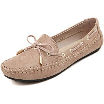 Meeshine Womens Casual Bowknot Moccasins Driving loafers Slip On Flat Shoes f7a33586ab32